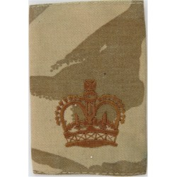 WO2 (Crown Only) Rank Badge - On Desert Camouflage  with Queen Elizabeth's Crown. Embroidered Warrant Officer rank badge