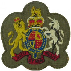 Warrant Officer Class 1 - Australian Army Colour On Dacron with Queen Elizabeth's Crown. Embroidered Warrant Officer rank badge