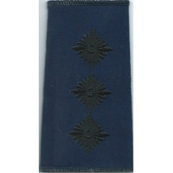 Captain (Royal Logistic Corps - Maritime) - Black On Navy Blue Rank Slide  Embroidered Officer rank badge