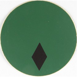 NBC Suit Rank Sticker - Second Lieutenant Black On Green  Vinyl Officer rank badge