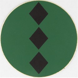 NBC Suit Rank Sticker - Captain Black On Green  Vinyl Officer rank badge