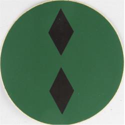 NBC Suit Rank Sticker - Lieutenant Black On Green  Vinyl Officer rank badge