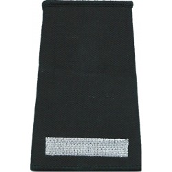 Rank Slide: Leading Fire-Fighter 1 Thick Bar  Embroidered Fire and Rescue Service insignia