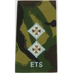APTC Major (Army Physical Training Corps) Rank Slide On Beige For Shirt with Queen Elizabeth's Crown. Embroidered Officer rank b