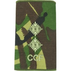 CCF Lieutenant (Combined Cadet Force) Rank Slide DPM Camo  Embroidered Officer rank badge
