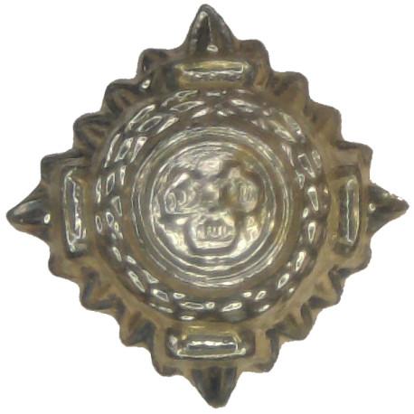 AGC - Captain (Adjutant General's Corps) - Dark Blue Beige Shirt Slide Embroidered Officer rank badge