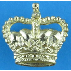 Officer's Rank Crown - No Velvet (King's Regt Type) 22mm High with Queen Elizabeth's Crown. Anodised Officer rank badge