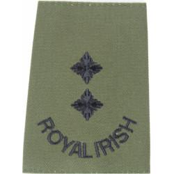 Officer's Rank Star (Pip) - 13.5mm Side Black: Rifles/Gurkha  Brass Officer rank badge