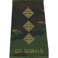 Hampshire Yeomanry - Second Lieutenant Rank Slide On Olive Green Embroidered Officer rank badge