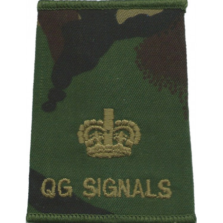Sussex Yeomanry - Second Lieutenant Rank Slide On Olive Green Embroidered Officer rank badge
