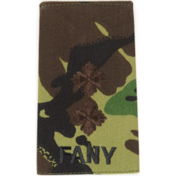 Royal Green Jackets - Second Lieutenant + Bugle Rank Slide On Olive  Embroidered Officer rank badge