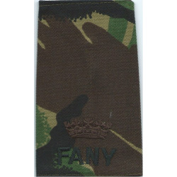 FANY Commander (First Aid Nursing Yeomanry (PRVC)) DPM Camo Rank Slide  Embroidered Officer rank badge