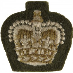 ACF Major (Army Cadet Force) Rank Slide On Beige For Shirt Queen's Crown. Embroidered Officer rank badge