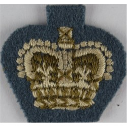 RLC Captain (Royal Logistic Corps) - Blue/White On DPM Camo  Embroidered Officer rank badge