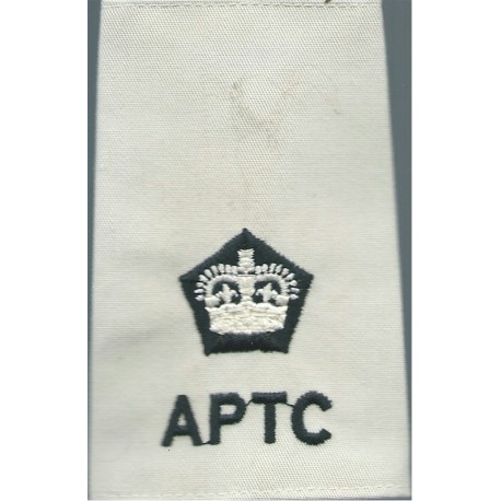 Black Watch ACF Lieutenant Colonel (BW / ACF) Tartan Rank Slide with Queen Elizabeth's Crown. Embroidered Officer rank badge