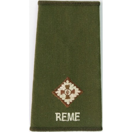 Black Watch ACF Second Lieutenant (BW / ACF) Tartan Rank Slide  Embroidered Officer rank badge