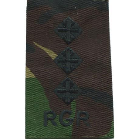 DWR Second Lieutenant (Duke Of Wellington's Regiment Rank Slide On Olive Embroidered Officer rank badge
