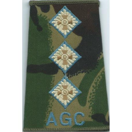 AGC - Captain (Adjutant General's Corps) - Sky Blue DPM Camo Rank Slide  Embroidered Officer rank badge