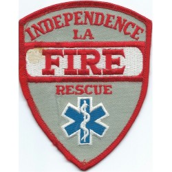 USA: Louisiana: Independence Fire Rescue Arm-Badge  Embroidered Fire and Rescue Service insignia