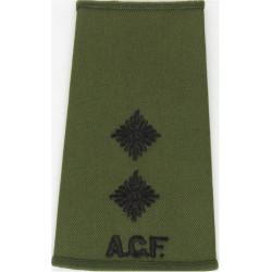 ACF Lieutenant (Army Cadet Force) Rank Slide Black On Olive Green  Embroidered Officer rank badge