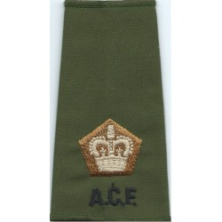 Officer's Rank Star (Pip) - 18.5mm Side Black: Rifles/Gurkha  Brass Officer rank badge