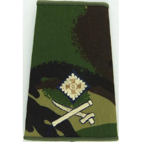 Officer's Rank Star (Pip) - 11.5mm Side Black: Rifles/Gurkha Brass Officer rank badge