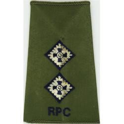 Bugle / RGJ (Royal Green Jackets) - Black   Anodised Army Staybrite shoulder title