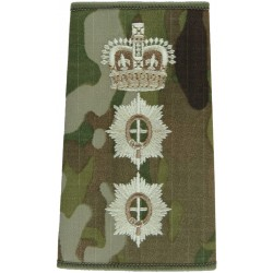 Coldstream Guards Colonel MTP Camo Rank Slide with Queen Elizabeth's Crown. Embroidered Officer rank badge