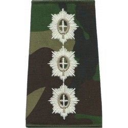 Coldstream Guards Captain DPM Camo Rank Slide  Embroidered Officer rank badge