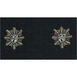 County Of Clwyd Fire & Ambulance Services Collar Badges  Bullion wire-embroidered Fire and Rescue Service insignia