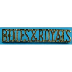 Blues & Royals   Anodised Army Staybrite shoulder title