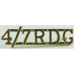 4/7RDG (4th/7th Royal Dragoon Guards) Pre-1993  Anodised Army Staybrite shoulder title