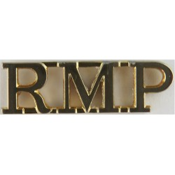 RMP (Royal Military Police) Spike Fitting  Anodised Army Staybrite shoulder title