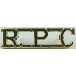 RPC (Royal Pioneer Corps) Pre-1993  Anodised Army Staybrite shoulder title