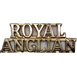 Royal / Anglian (Royal Anglian Regiment)   Anodised Army Staybrite shoulder title