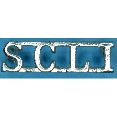 SCLI (Somerset & Cornwall Light Infantry) 1966-68  Anodised Army Staybrite shoulder title
