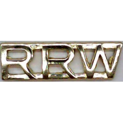 RRW (Royal Regiment of Wales)   Anodised Army Staybrite shoulder title