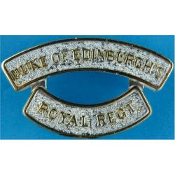 Duke Of Edinburgh's / Royal Regt 1st Pattern  Anodised Army Staybrite shoulder title