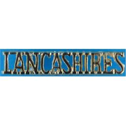 LANCASHIRES (Queen's Lancashire Regiment) - 1st Patt   Anodised Army Staybrite shoulder title