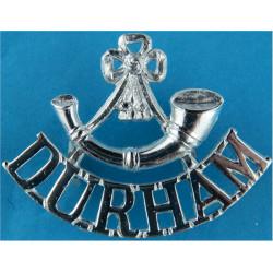 Bugle / Durham Mouthpiece FL  Anodised Army Staybrite shoulder title