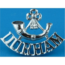 Bugle / Durham Mouthpiece FR  Anodised Army Staybrite shoulder title