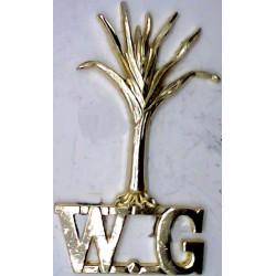 Leek / WG (Welsh Guards)   Anodised Army Staybrite shoulder title