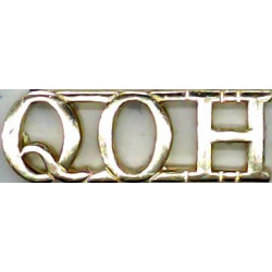 QOH (Queen's Own Hussars) Pre-1993  Anodised Army Staybrite shoulder title