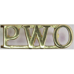 PWO (Prince Of Wales's Regiment Of Yorkshire)   Anodised Army Staybrite shoulder title