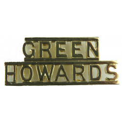 Green / Howards   Anodised Army Staybrite shoulder title