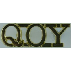 QOY (Queen's Own Yeomanry)   Anodised Army Staybrite shoulder title