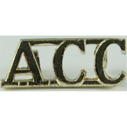 CCF (Combined Cadet Force) Gold Colour Anodised Army Staybrite shoulder title