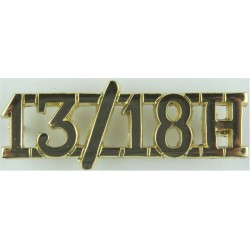 13/18H (13th/18th Royal Hussars) Pre-1993  Anodised Army Staybrite shoulder title