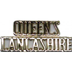 Queen's / Lancashire (Queen's Lancashire Regiment)   Anodised Army Staybrite shoulder title