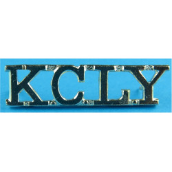 KCLY (Kent & County Of London Yeomanry)   Anodised Army Staybrite shoulder title